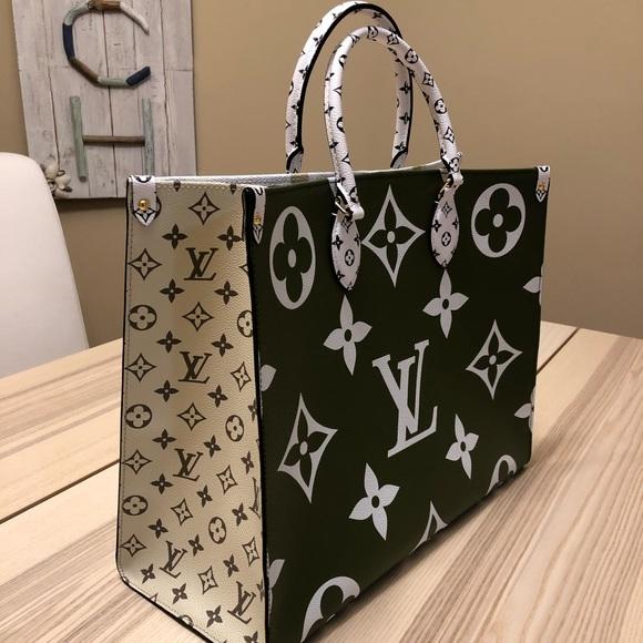 bf9eadd46e1b Louis Vuitton Bags | Giant Monogram Onthego Tote Kaki | Poshmark
